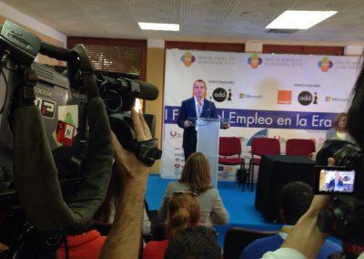 Inauguración FEED Roberto Menendez - Director de la Feria del Empleo en la Era Digital
