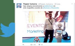 Redes Sociales - Sharemedia con Robot Pepper de Grupo ADD