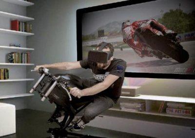 simulador moto realidad virtual - grupo add